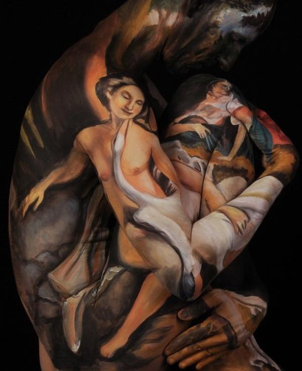 Leda and the Swan, after Correggio